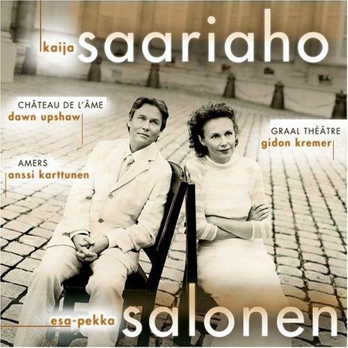 Graal Théâtre  /  Château de l'Âme  /  Amers  by  Kaija Saariaho  :composer  Esa-Pekka Salonen : conductor  Gidon Kremer : violin  Anssi Karttunen : cello  Dawn Upshaw : soprano (Sony, August 2001)
