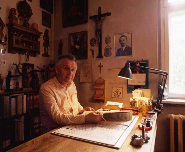 Henryk Górecki during the 1990s. Image by Malcolm Crowthers