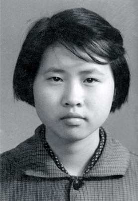 Can Xue at age 15 during the Cultural Revolution when she lived with her father.