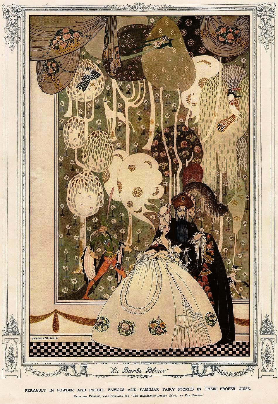 One of illustrator Kay Nielsen's  Bluebeard    drawings, 1913