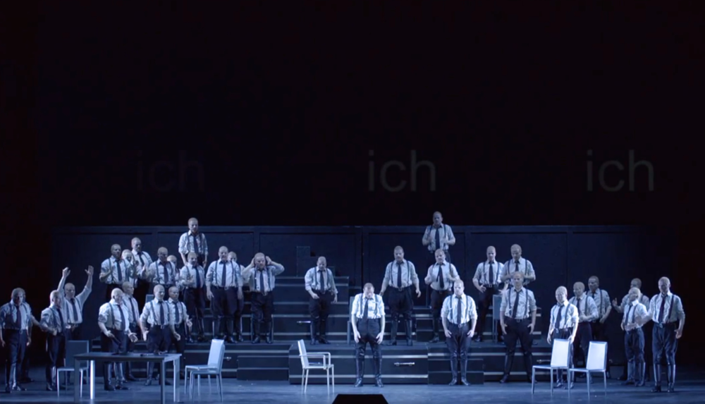 Bo Skovhus  (Lear), with chorus of Lears, from  Gruber-Reimann   Lear
