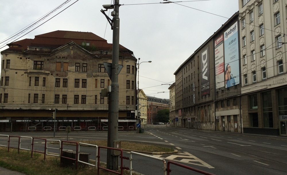 Ostrava, between Triple Hall and the Antonín Dvořák Opera House (image: George Grella)