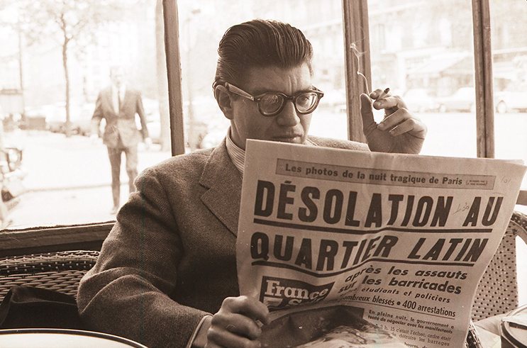 Morton Feldman  in Paris, 1968 (credit: Earle Brown Foundation)