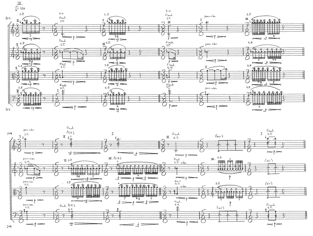 Alex Mincek  String Quartet No. 3  lift–tilt–filter–split  Copyright © 2010 by Alex Mincek All Rights Reserved Used by permission of European American Music Distributors Company, agent for Alex Mincek