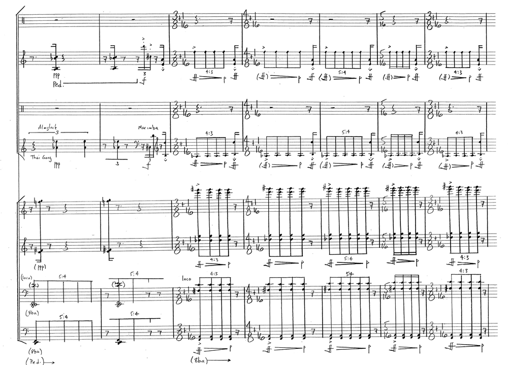 Alex Mincek   Pendulum VI: Trigger  Copyright © 2010 by Alex Mincek All Rights Reserved Used by permission of European American Music Distributors Company, agent for Alex Mincek