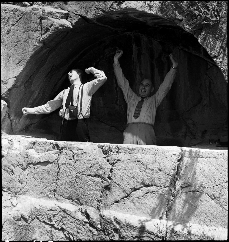 Awakenings in the Coemeterium of the Seven Sleepers at Ephesus, Turkey. 1940. Photograph by Nicholas V. Artamonoff. Courtesy of Dumbarton Oaks.