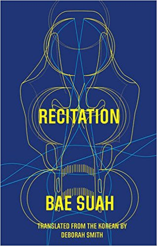 Recitation  by  Bae Suah  tr.  Deborah Smith  (Deep Vellum, Jan. 2017)