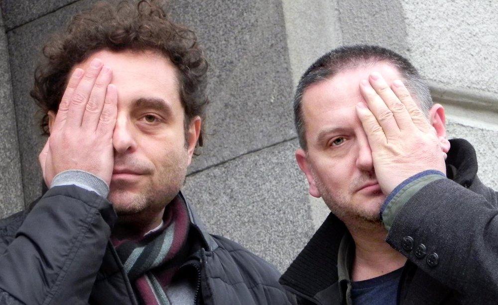 Georgi Gospodinov (r) with Theodore Ushev (l) Image credit: Rumiana Toneva