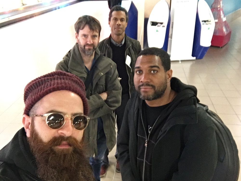 Left to right: Avishai Cohen, Joe Martin, Mark Turner, and Damion Reid. On tour as the Mark Turner Quartet. Courtesy of Avishai Cohen.
