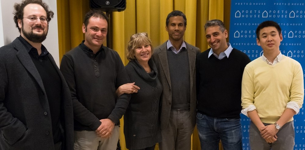 Left to right: Jeremy M. Davies, Éric Chevillard, Alyson Waters, Mark Turner, Daniel Medin, and Kevin Sun