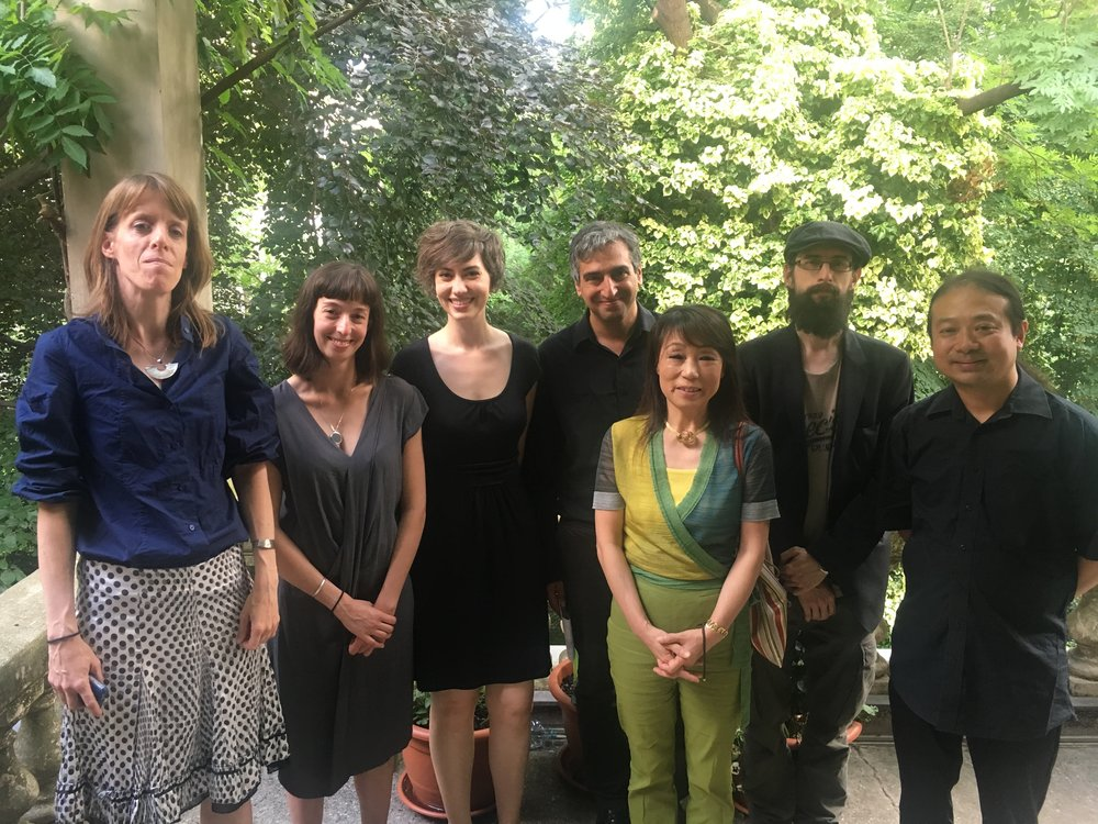 From left to right: Janika Gelinek, Anne Posten, Madeleine LaRue, Daniel Medin, Unsuk Chin, Clemens J. Setz, Wu Wei