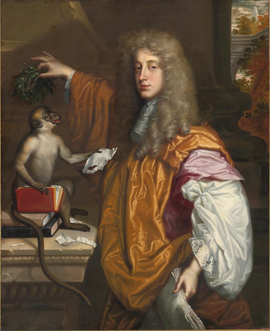 Portrait of John Wilmot, 2nd Earl of Rochester, Jacob Huysmans. Public domain, via Wikimedia Commons.