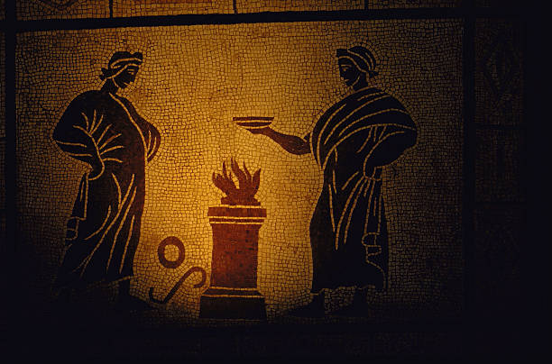 ancient-roman-mosaic-tile-depicting-two-figures-offering-sacrifice-picture-id92926724.jpg