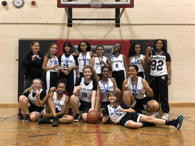 Junior Girls Basketball - Tier 2 East Region Silver Medalists