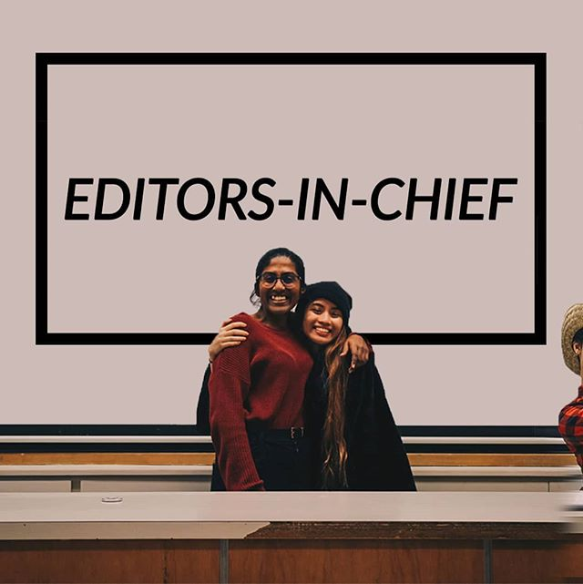 Presenting our editors-in-chief Jazel and Ganga!!! They oversee the work in the yearbook committee and are also training next year's pair of senior editors~