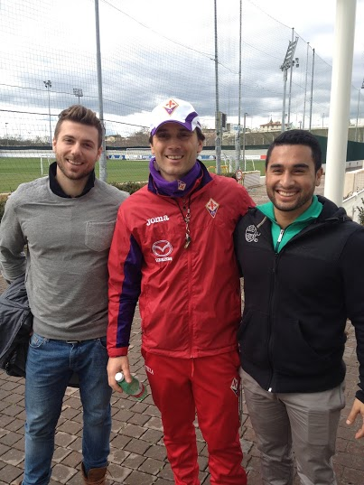 Fiorentina Head Coach Vincenzo Montella and ATD Staff Matthew Arrington and Dennis Schardt