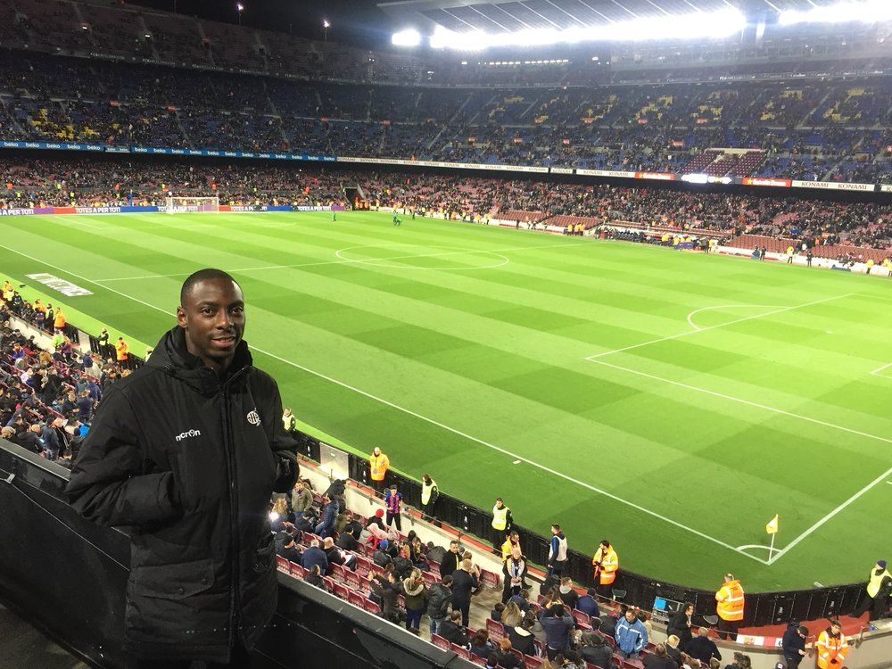 Andrew at Camp Nou.