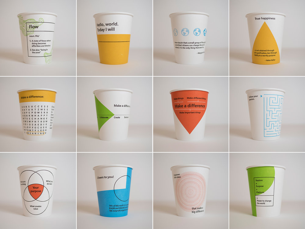 Microsoft coffee cups