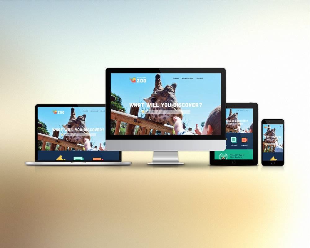 Responsive zoo website mockup