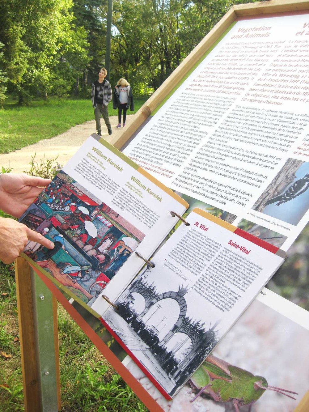 Flip books were adhered to some signs giving further details about the park and it's interesting history.