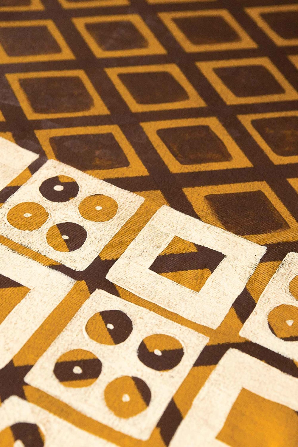 Detail of a historic Mennonite floor pattern.