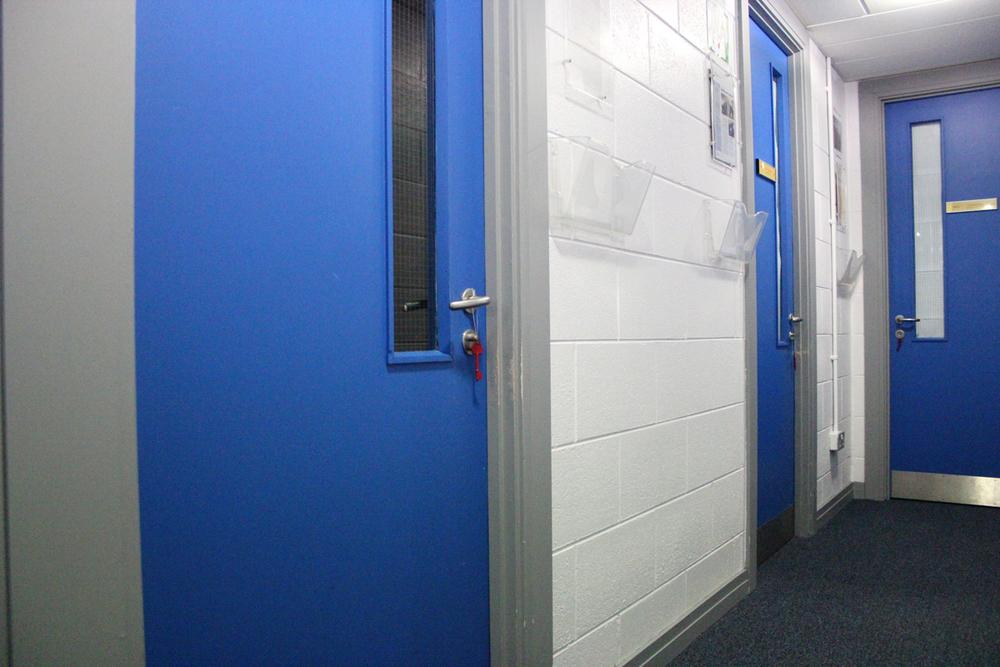Keys on staff doors.