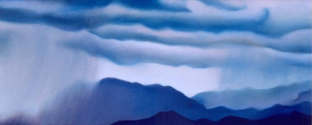 """Summer Storm""pastel, 12x5"""