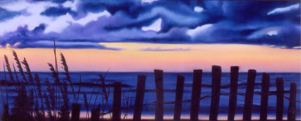 """Daybreak""pastel, 12x5"""