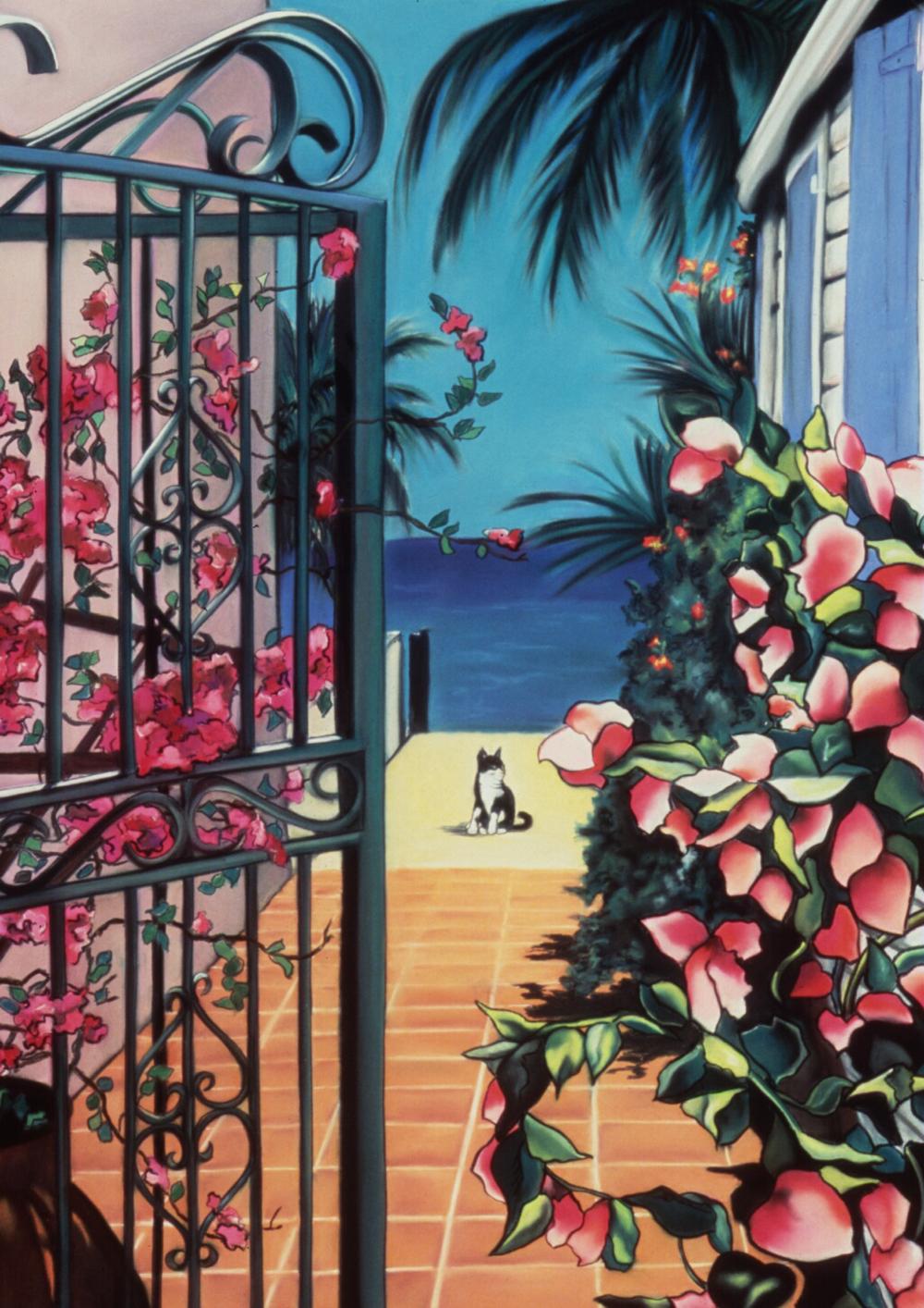 """Edge of the World"" pastel, 18x25"""
