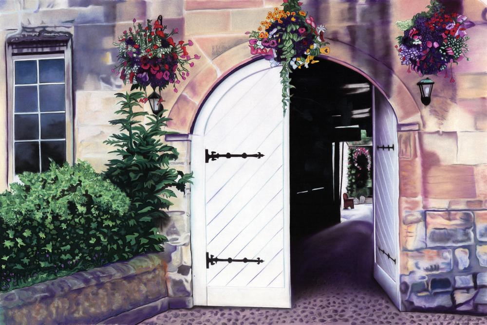 """Gate to the Garden"" pastel, 70x50"""