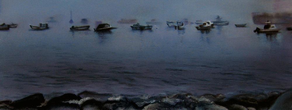 """""""Sea Mist""""pastel, 12x5"""""""