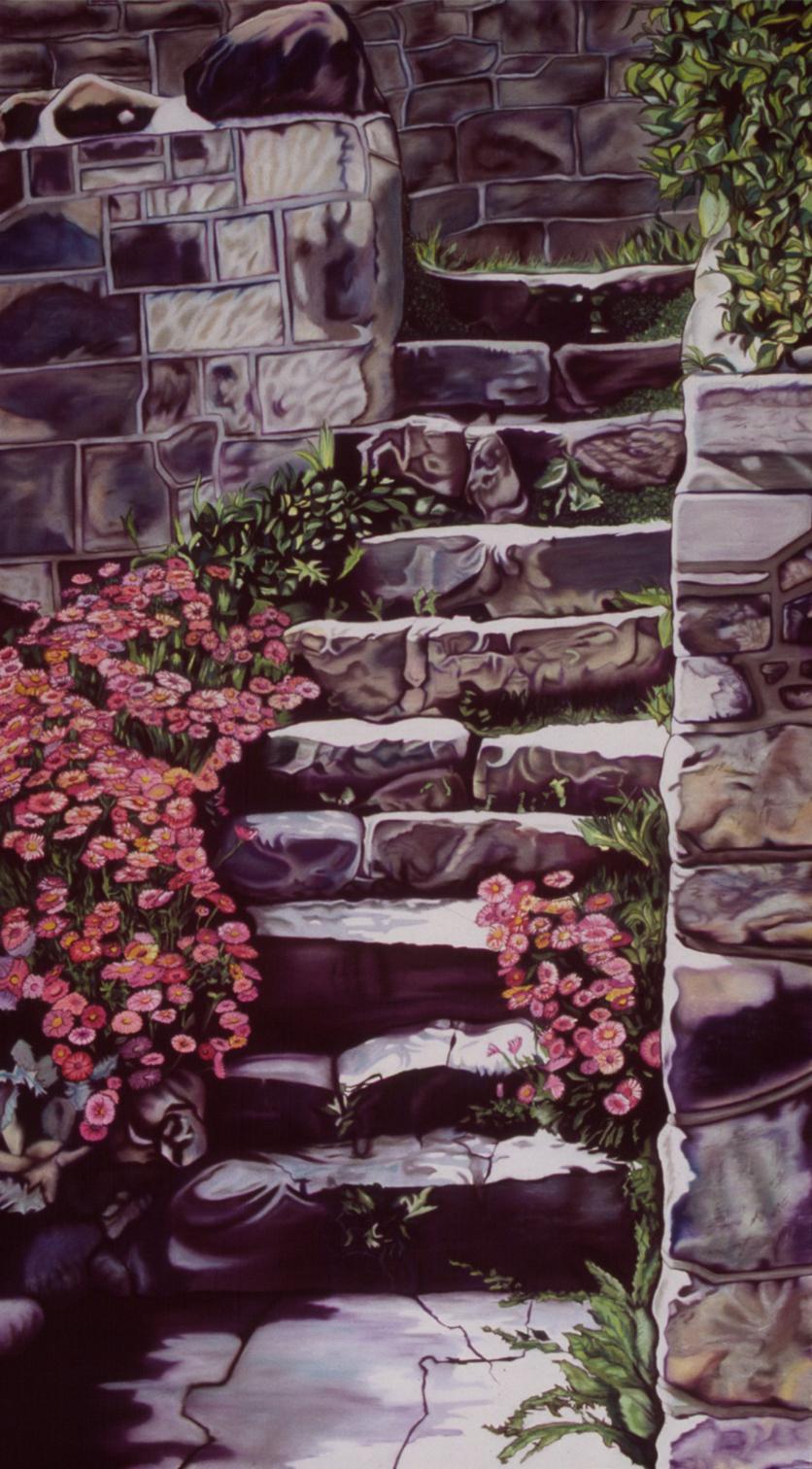 """Steps of Stone"" pastel, 45x84"""