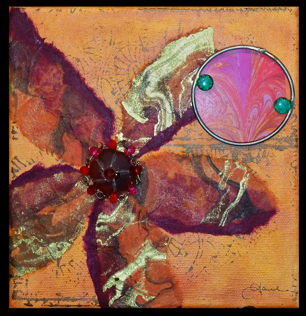 """""""Nothing But Flowers Mini II""""  mixed media, 6""""x6"""""""