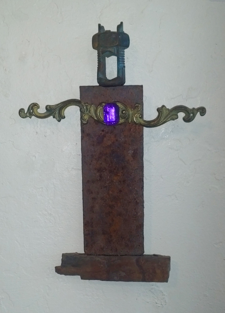 """""""The King  """" mixed media, found object, 7""""h x 4""""w  AVAILABLE / $65"""