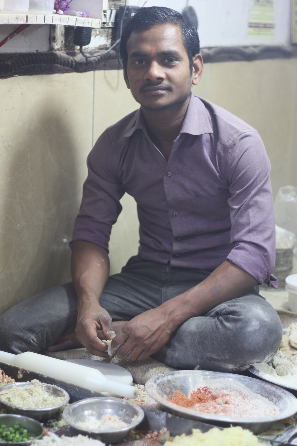 6th generation paratha master at Parantha Wali Gali, Delhi