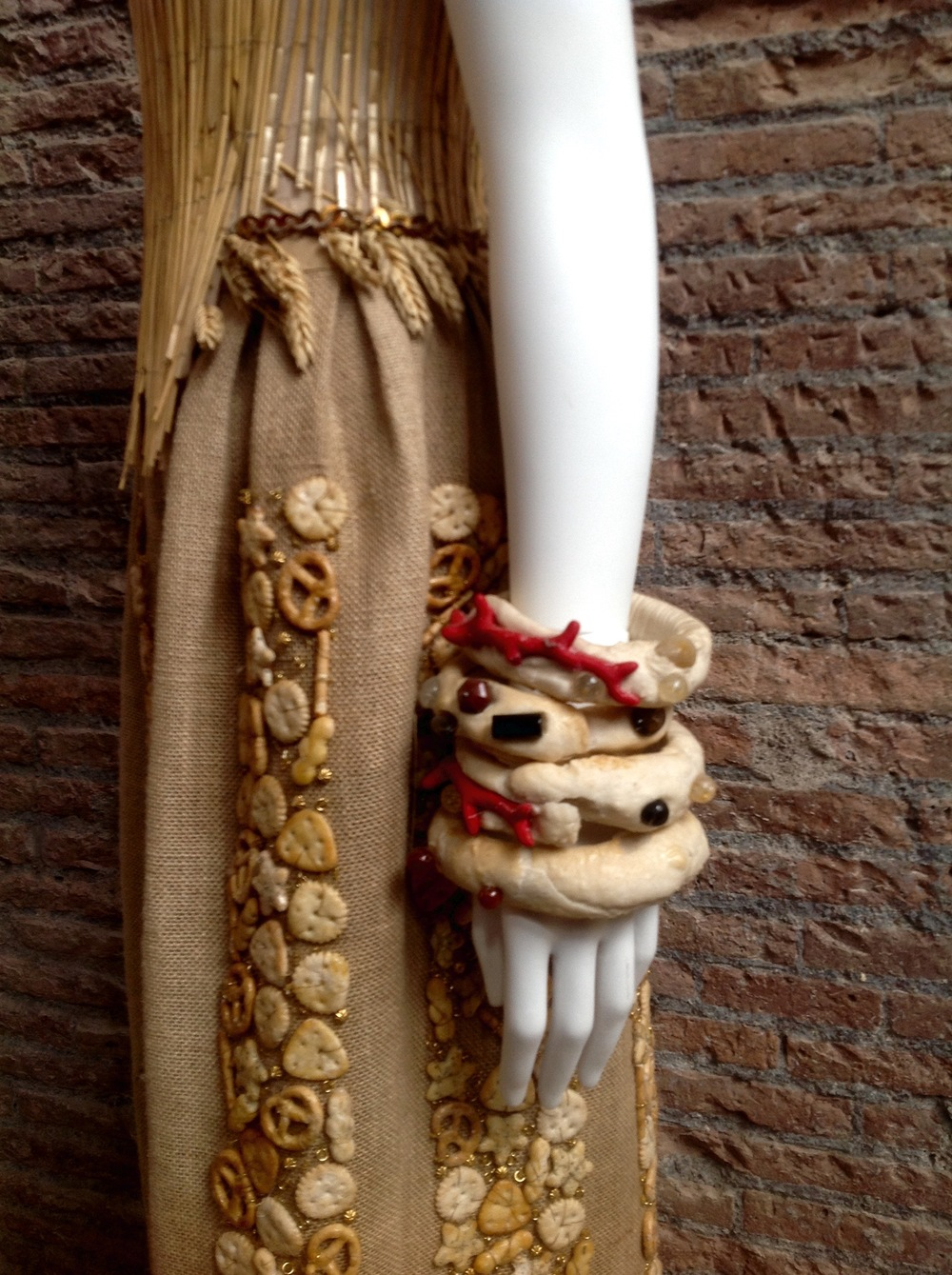 Gattinoni Detail of the Bread Dress 2015