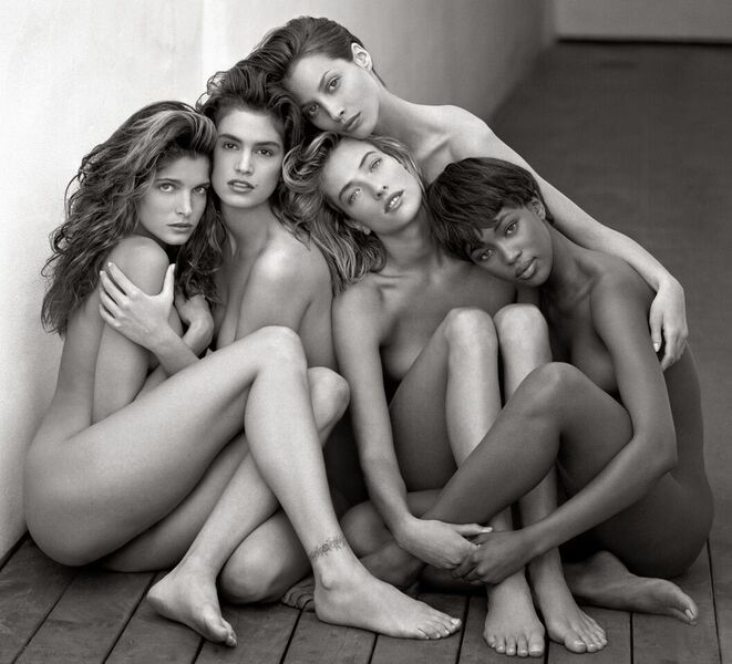 Stephanie, Cindy, Christy, Tatyana, Naomi, Hollywood 1989