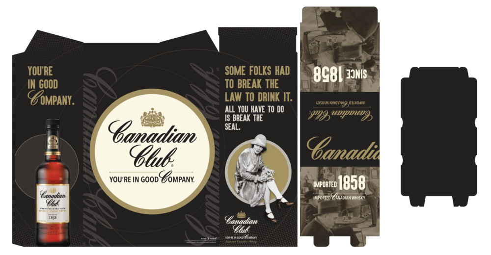 Canadian Club Activation - 1858 3 Case Bin