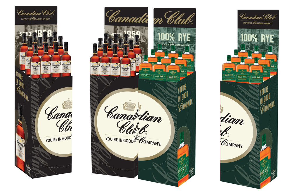 Canadian Club Activation - 3 Case Bins
