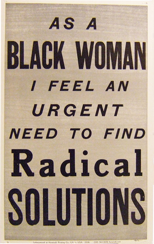 As a Black Woman...