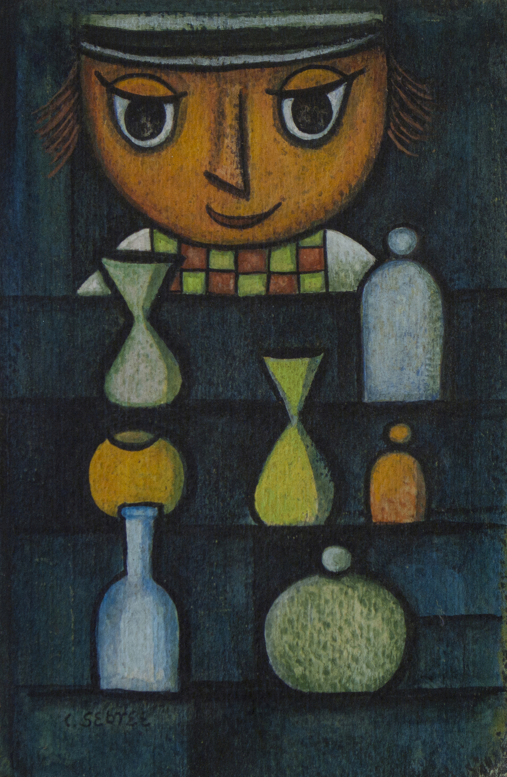Untitled (Man With Vases)