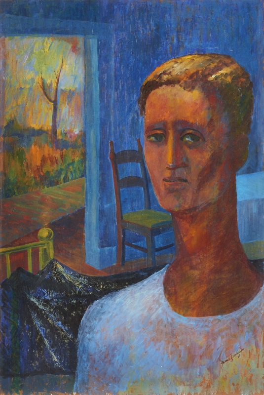 "To Be Alone  , 1960/1961; oil on board, 35.75"" x 23.75"", signed and dated 60 lower right; titled and dated 61 on verso."