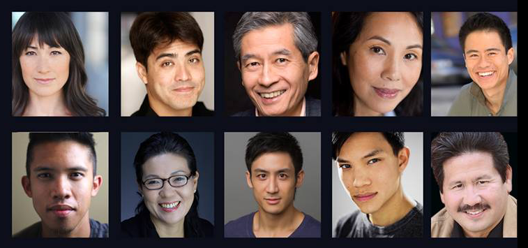 The Cast of Pan Asian Repertory Theatre's production of Ken Narasaki's NO-NO BOY: Kimiye Corwin, Chris Doi, Glenn Kubota, Karen Tsen Lee, Whit K. Lee, Claro de los Reyes, Shigeko Sara Suga, Hansel Tan, Tony Vo, Scott Watanabe
