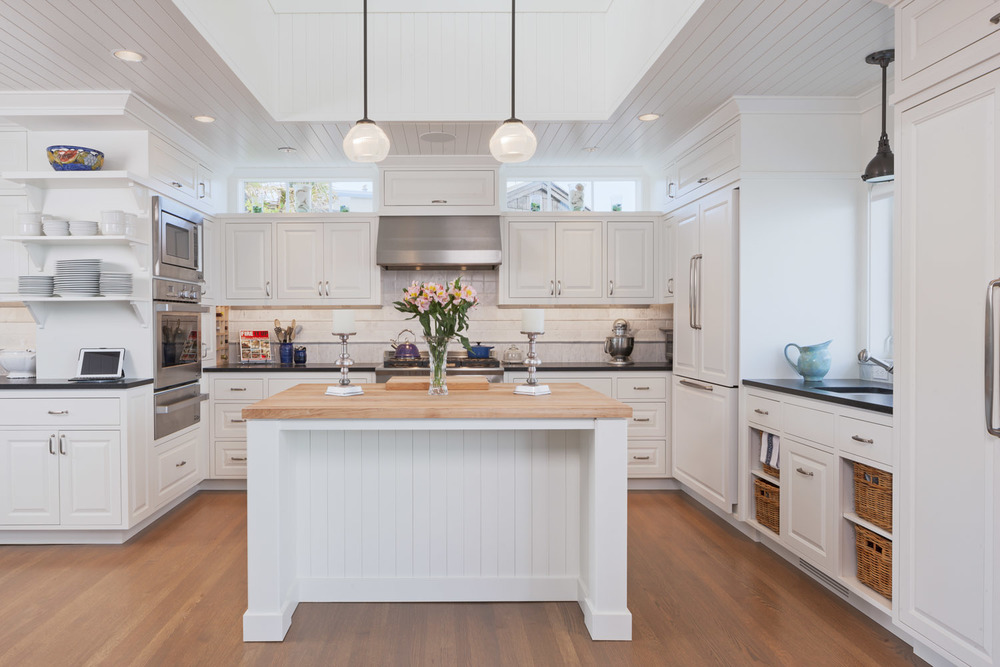 Kitchen with transom windows + cupola above