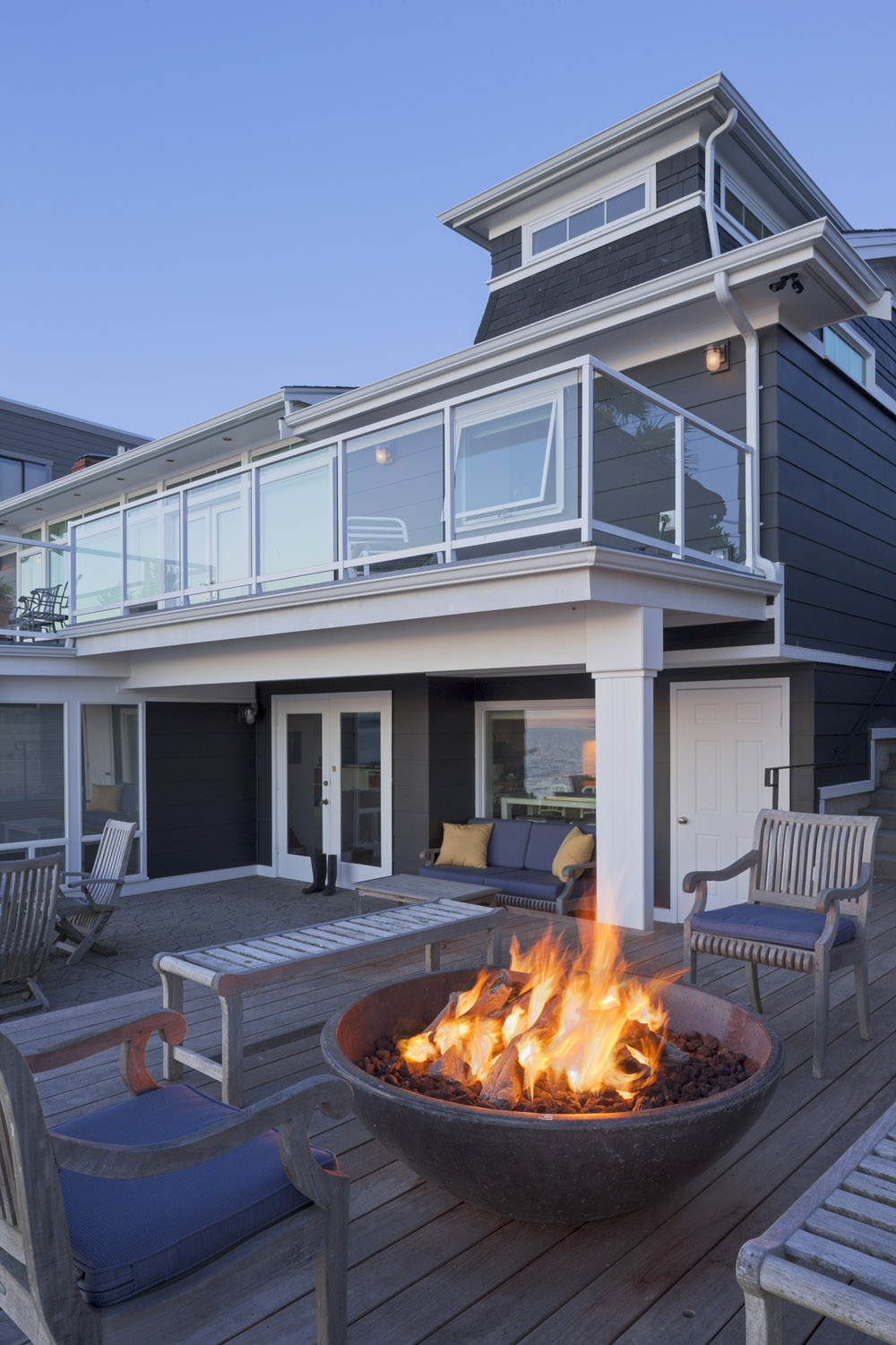 Rear facade from fire pit deck