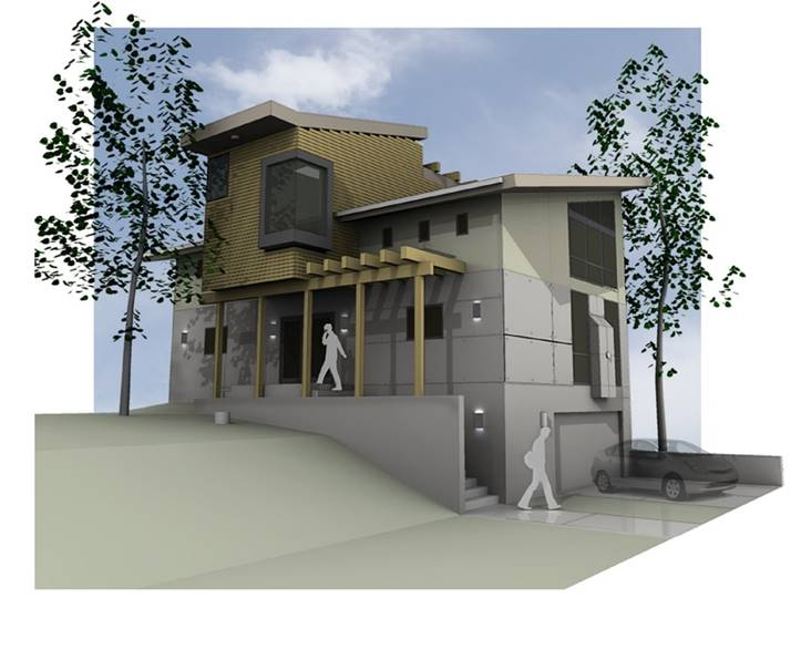 Rendering of single family home