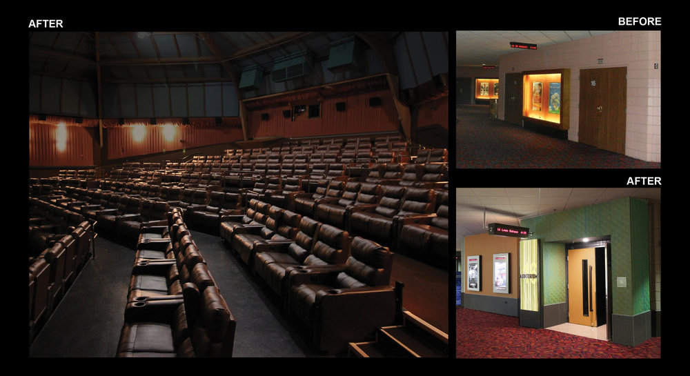 AUDITORIUM ENTRANCE - BEFORE/AFTER