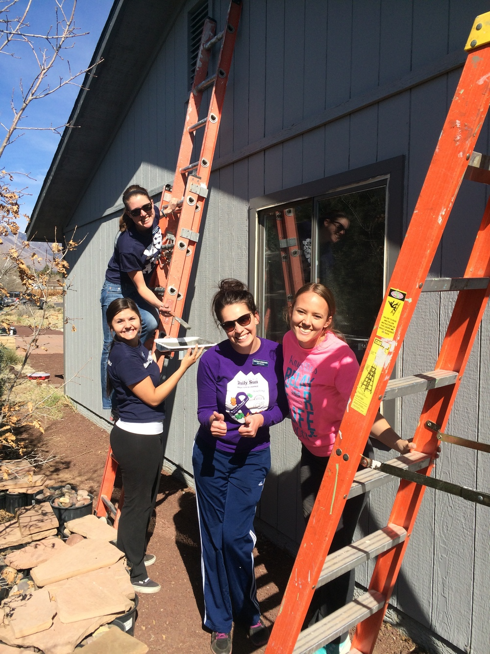 It was great to work with WL Gore, Flagstaff Leadership Program, the Blue Key Honor Society, and these NAU Kayettes at our last painting site!