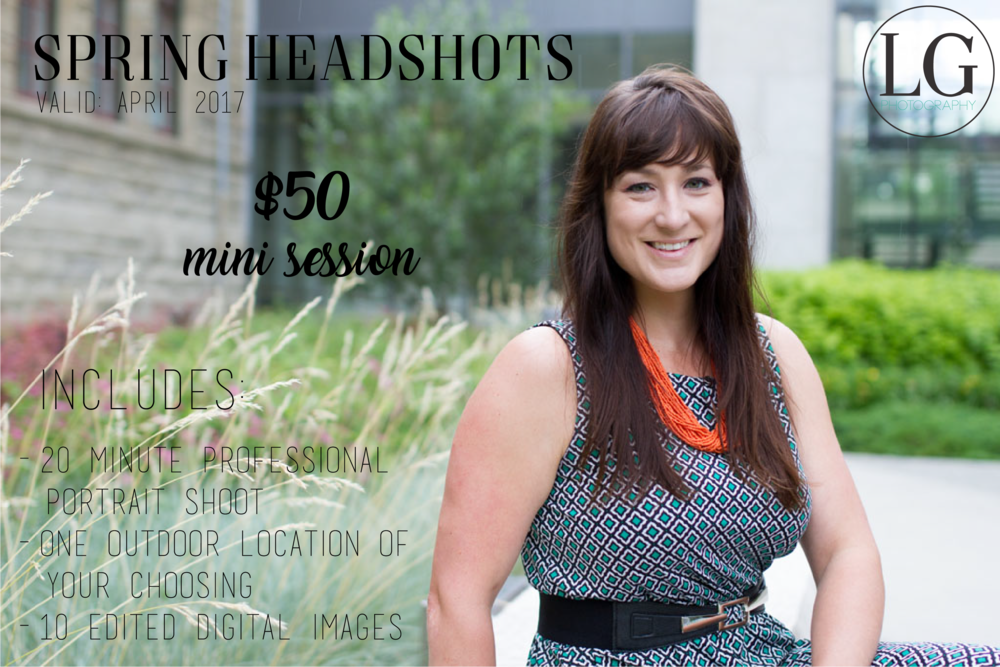 Headshot photographer in Calgary. Professional portrait promotion by Laura Grace Photography.