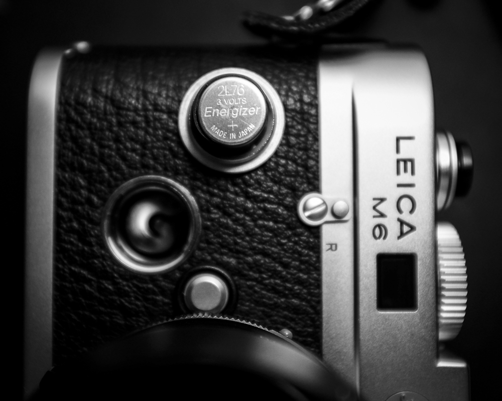 The Leica M6 Battery